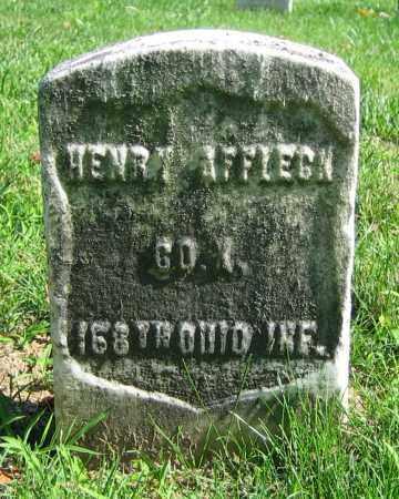 AFFLECK, HENRY - Clark County, Ohio   HENRY AFFLECK - Ohio Gravestone Photos