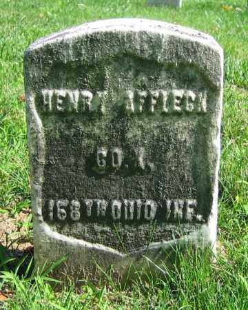 AFFLECK, HENRY - Clark County, Ohio | HENRY AFFLECK - Ohio Gravestone Photos