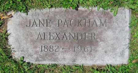 PACKHAM ALEXANDER, JANE - Clark County, Ohio | JANE PACKHAM ALEXANDER - Ohio Gravestone Photos