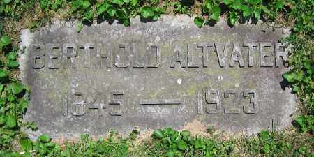 ALTVATER, BERTHOLD - Clark County, Ohio | BERTHOLD ALTVATER - Ohio Gravestone Photos