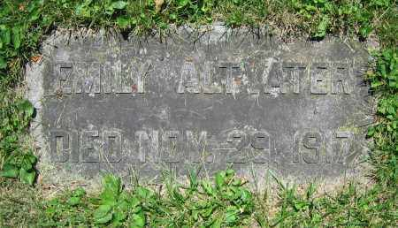ALTVATER, EMILY - Clark County, Ohio   EMILY ALTVATER - Ohio Gravestone Photos