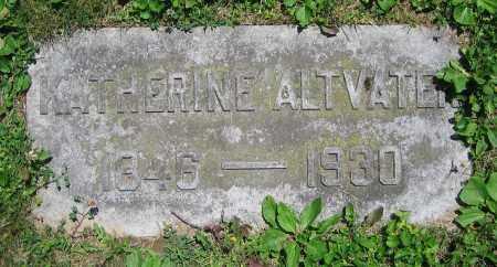 ALTVATER, KATHERINE - Clark County, Ohio | KATHERINE ALTVATER - Ohio Gravestone Photos