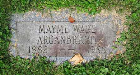 WARE ARGANBRIGHT, MAYME - Clark County, Ohio | MAYME WARE ARGANBRIGHT - Ohio Gravestone Photos