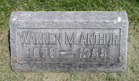ARTHUR, WARREN M. - Clark County, Ohio | WARREN M. ARTHUR - Ohio Gravestone Photos