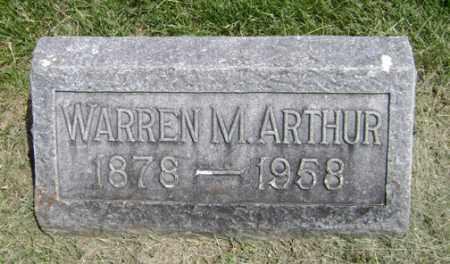 ARTHUR, WARREN M. - Clark County, Ohio | WARREN M. ARTHUR - Ohio Gravestone Photos