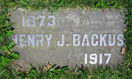 BACKUS, HENRY J. - Clark County, Ohio | HENRY J. BACKUS - Ohio Gravestone Photos