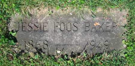 FOOS BAKER, JESSIE - Clark County, Ohio   JESSIE FOOS BAKER - Ohio Gravestone Photos