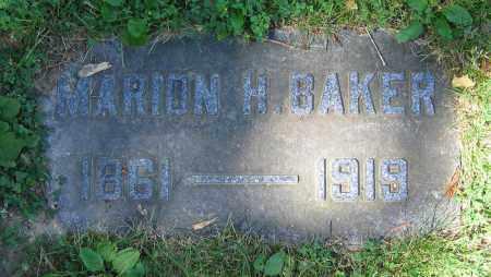 BAKER, MARION H. - Clark County, Ohio | MARION H. BAKER - Ohio Gravestone Photos