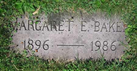 BAKER, MARGARET E. - Clark County, Ohio | MARGARET E. BAKER - Ohio Gravestone Photos