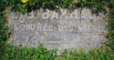 BAKHAUS, E.B. - Clark County, Ohio   E.B. BAKHAUS - Ohio Gravestone Photos
