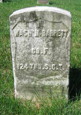 BARRETT, WASH'N - Clark County, Ohio | WASH'N BARRETT - Ohio Gravestone Photos