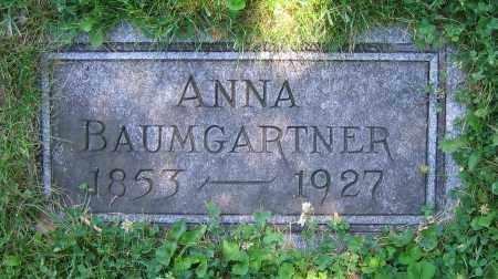 BAUMGARTNER, ANNA - Clark County, Ohio | ANNA BAUMGARTNER - Ohio Gravestone Photos