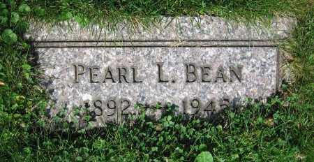 BEAN, PEARL L. - Clark County, Ohio   PEARL L. BEAN - Ohio Gravestone Photos
