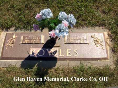 "BOWLES, CHARLES ""CHICK"" - Clark County, Ohio | CHARLES ""CHICK"" BOWLES - Ohio Gravestone Photos"