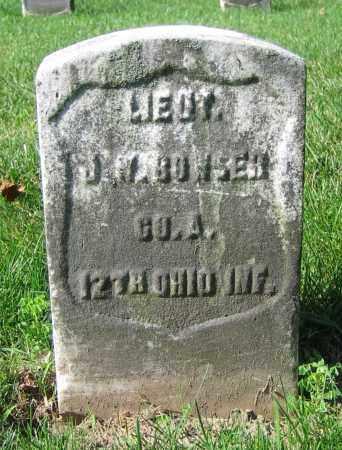 BOWSER, J.W. - Clark County, Ohio | J.W. BOWSER - Ohio Gravestone Photos