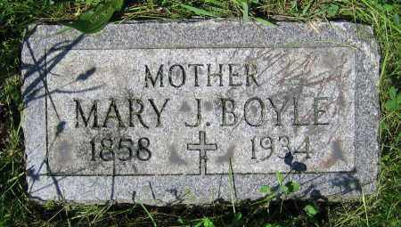BOYLE, MARY J. - Clark County, Ohio | MARY J. BOYLE - Ohio Gravestone Photos