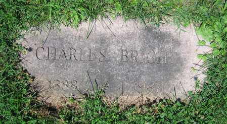 BRIGHT, CHARLES - Clark County, Ohio | CHARLES BRIGHT - Ohio Gravestone Photos