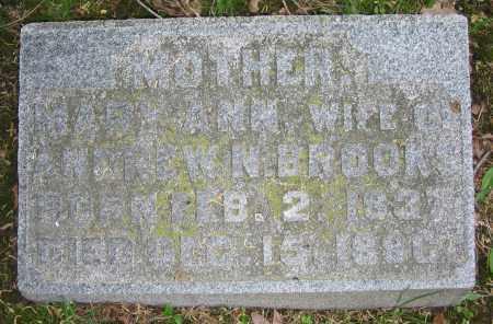 BROOKS, MARY ANN - Clark County, Ohio | MARY ANN BROOKS - Ohio Gravestone Photos