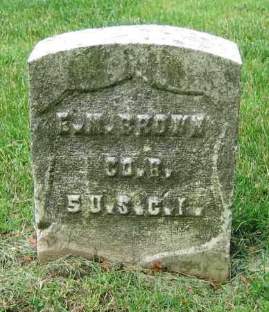 BROWN, E.M. - Clark County, Ohio | E.M. BROWN - Ohio Gravestone Photos