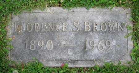 BROWN, FLORENCE S. - Clark County, Ohio | FLORENCE S. BROWN - Ohio Gravestone Photos