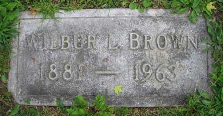 BROWN, WILBUR L. - Clark County, Ohio | WILBUR L. BROWN - Ohio Gravestone Photos