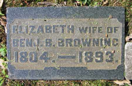 TRIMMER BROWNING, ELIZABETH - Clark County, Ohio | ELIZABETH TRIMMER BROWNING - Ohio Gravestone Photos