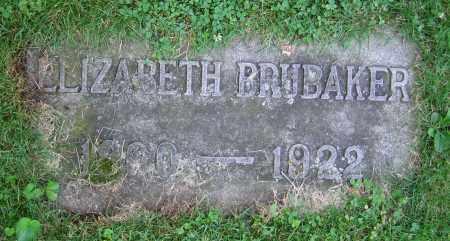 BRUBAKER, ELIZABETH - Clark County, Ohio | ELIZABETH BRUBAKER - Ohio Gravestone Photos