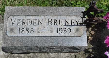 BRUNEY, VERDEN - Clark County, Ohio   VERDEN BRUNEY - Ohio Gravestone Photos