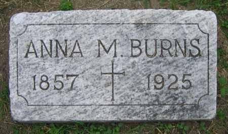 BURNS, ANNA M. - Clark County, Ohio   ANNA M. BURNS - Ohio Gravestone Photos
