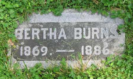 BURNS, BERTHA - Clark County, Ohio | BERTHA BURNS - Ohio Gravestone Photos