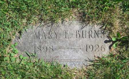 BURNS, MARY E. - Clark County, Ohio | MARY E. BURNS - Ohio Gravestone Photos