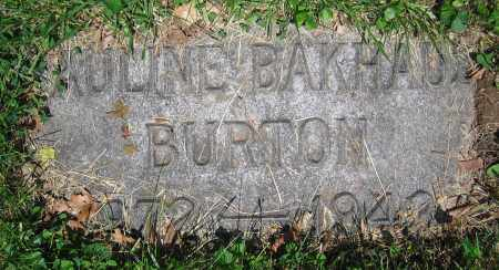 BAKHAUS BURTON, PAULINE - Clark County, Ohio | PAULINE BAKHAUS BURTON - Ohio Gravestone Photos