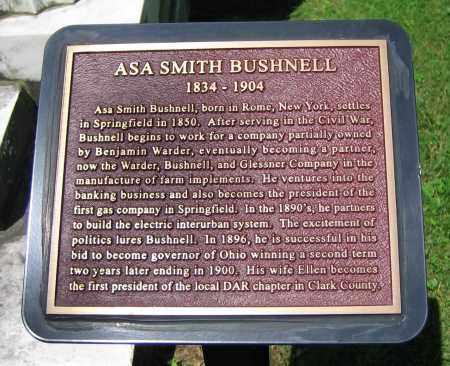 BUSHNELL, ASA SMITH - Clark County, Ohio | ASA SMITH BUSHNELL - Ohio Gravestone Photos