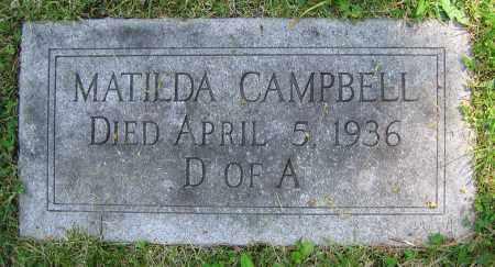 CAMPBELL, MATILDA - Clark County, Ohio | MATILDA CAMPBELL - Ohio Gravestone Photos