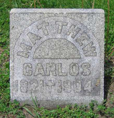 CARLOS, MATTHEW - Clark County, Ohio   MATTHEW CARLOS - Ohio Gravestone Photos