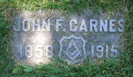 CARNES, JOHN F. - Clark County, Ohio   JOHN F. CARNES - Ohio Gravestone Photos