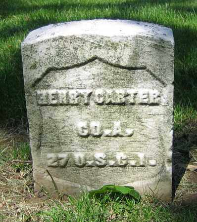 CARTER, HENRY - Clark County, Ohio | HENRY CARTER - Ohio Gravestone Photos