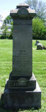 CAVANAUGH, ANN - Clark County, Ohio | ANN CAVANAUGH - Ohio Gravestone Photos