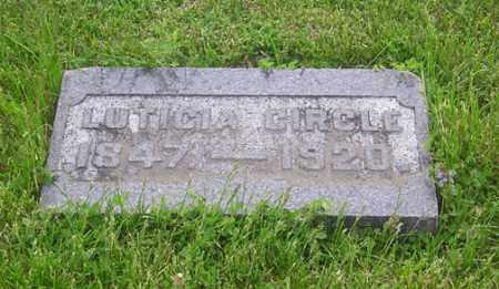 CIRCLE, LUTICIA - Clark County, Ohio | LUTICIA CIRCLE - Ohio Gravestone Photos