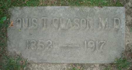 CLASON, LOUIS T.  M.D. - Clark County, Ohio | LOUIS T.  M.D. CLASON - Ohio Gravestone Photos