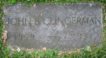CLINGERMAN, JOHN B. - Clark County, Ohio   JOHN B. CLINGERMAN - Ohio Gravestone Photos