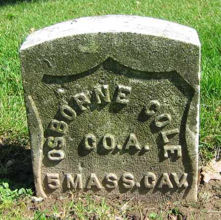 COLE, OSBORNE - Clark County, Ohio | OSBORNE COLE - Ohio Gravestone Photos