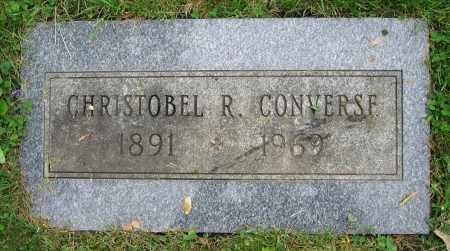 CONVERSE, CHRISTOBEL R. - Clark County, Ohio   CHRISTOBEL R. CONVERSE - Ohio Gravestone Photos