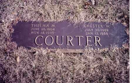 COURTER, CHESTER W. - Clark County, Ohio | CHESTER W. COURTER - Ohio Gravestone Photos
