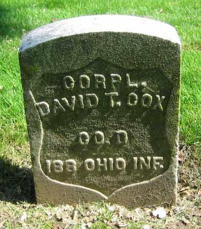 COX, DAVID T. - Clark County, Ohio | DAVID T. COX - Ohio Gravestone Photos