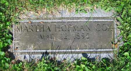 HOFMAN COX, MARTHA - Clark County, Ohio | MARTHA HOFMAN COX - Ohio Gravestone Photos