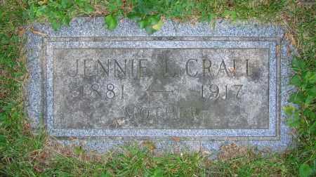 CRALL, JENNIE L. - Clark County, Ohio   JENNIE L. CRALL - Ohio Gravestone Photos