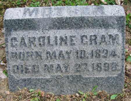 CRAM, CAROLINE - Clark County, Ohio | CAROLINE CRAM - Ohio Gravestone Photos