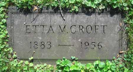 CROFT, ETTA M. - Clark County, Ohio | ETTA M. CROFT - Ohio Gravestone Photos