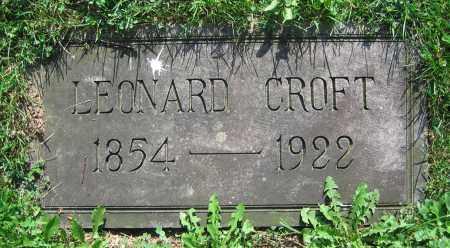 CROFT, LEONARD - Clark County, Ohio | LEONARD CROFT - Ohio Gravestone Photos